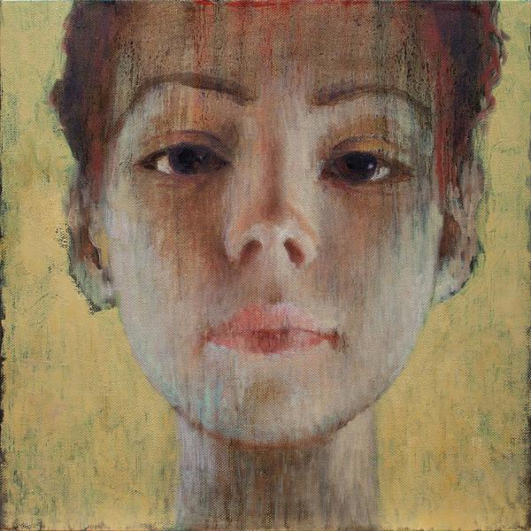 Wall Art - Painting - Woman On Yellow Background 4 by Ilir Pojani