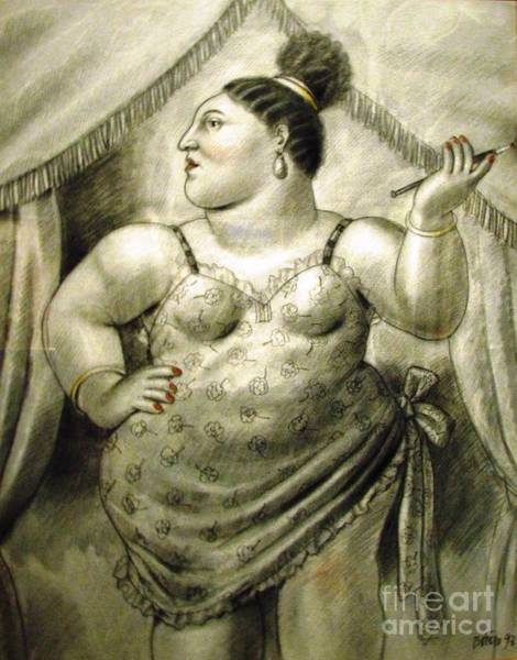 Photograph - woman performer Botero by Ted Pollard