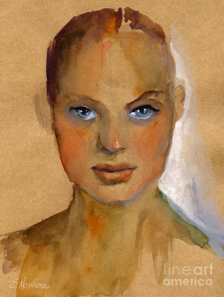 Painting - Woman Portrait Sketch by Svetlana Novikova