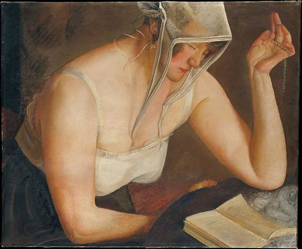 Painting - Woman Reading  1922, Boris Grigoriev by Artistic Panda