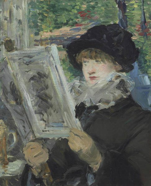 Manet Wall Art - Painting - Woman Reading by Edouard Manet
