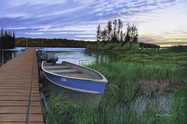 Painting - Woman River Camp by Anthony J Padgett