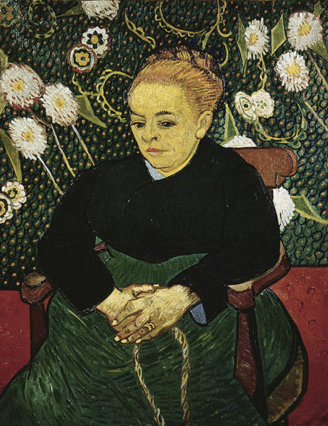 0 Painting - Woman Rocking A Cradle Augustine Roulin by Vincent Van Gogh