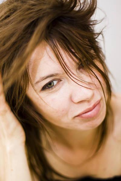 Woman Shaking Her Hair Art Print by Gabor Pozsgai
