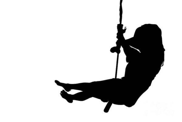 Digital Art - Woman  Silhouette Swinging by Benny Marty