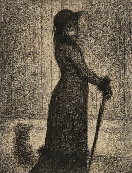 Drawing - Woman Strolling by Georges-Pierre Seurat