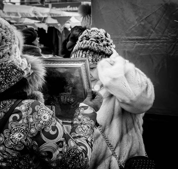 Photograph - Woman The Mirror And Her New Hat by John Williams