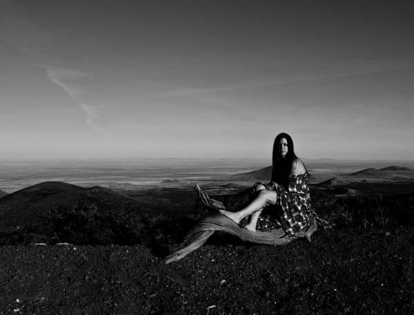Expanse Photograph - Woman Thinking by Scott Sawyer