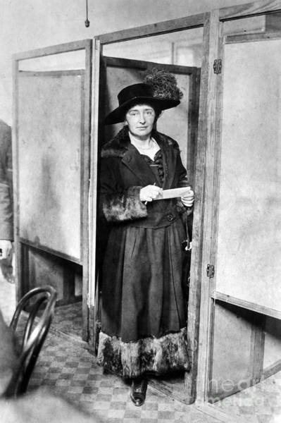 Poll Photograph - Woman: Voting, 1920 by Granger
