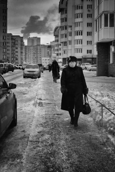 Photograph - Woman Walking On Path In Russia by John Williams