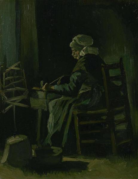 Painting - Woman Winding Yarn Nuenen, March 1885 Vincent Van Gogh 1853 - 1890 by Artistic Panda