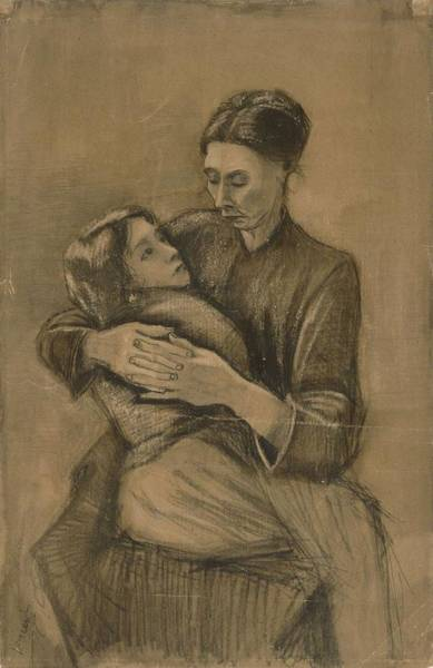Painting - Woman With A Child On Her Lap The Hague, March 1883 Vincent Van Gogh 1853 - 1890 by Artistic Panda