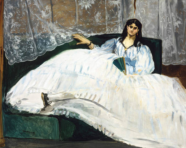Painting - Woman With A Fan by Edouard Manet