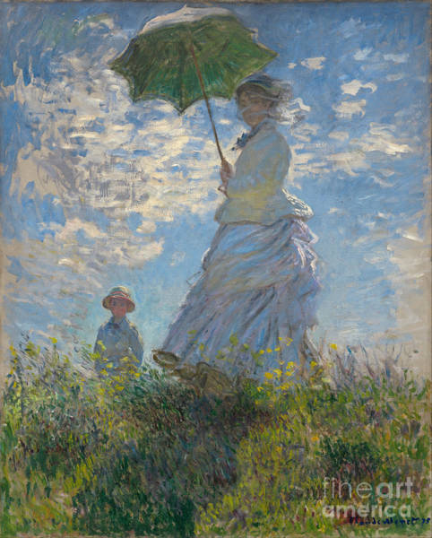 Painting - Woman With A Parasol by Claude Monet