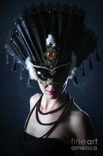 Photograph - Woman With Beautiful Carnival Mask by Dimitar Hristov