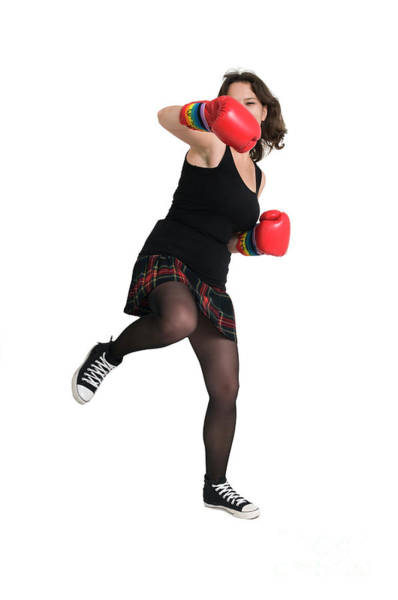 Kickboxing Photograph - Woman With Boxing Gloves  by Ilan Rosen
