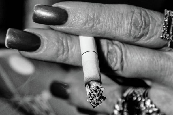 Photograph - Woman With Cigarette by SR Green