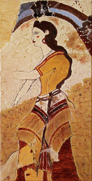 Desolation Painting - Woman With Minoan Outfit by Maria Woithofer