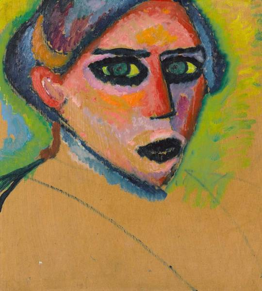 Painting - Woman's Face By Alexei Jawlensky by Artistic Panda