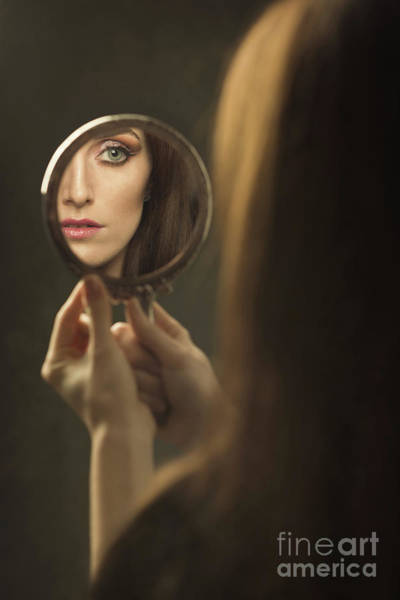 Wall Art - Photograph - Woman's Face In The Mirror by Amanda Elwell