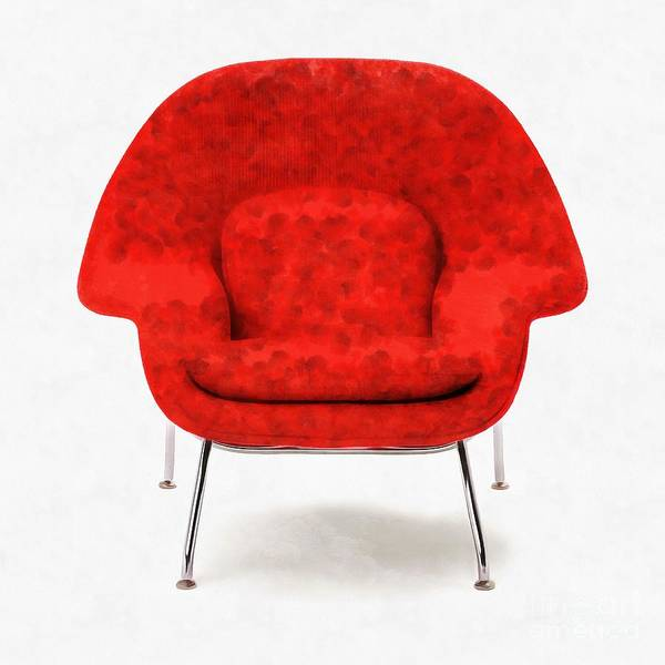 Wall Art - Digital Art - Womb Chair Mid Century Modern by Edward Fielding