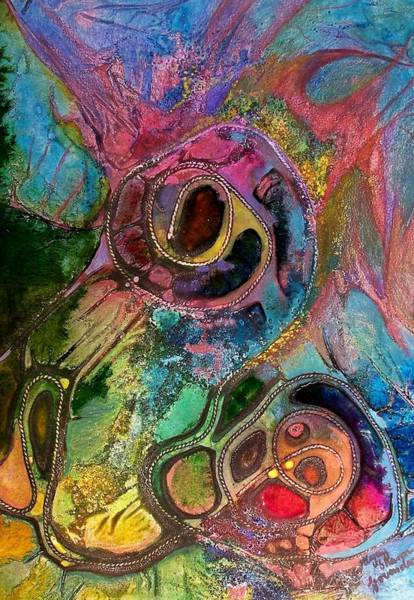 Womb Painting - Womb Of Creation by Vijay Sharon Govender
