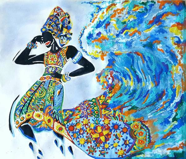 Painting - Women Are A Force Of Nature by Adekunle Ogunade