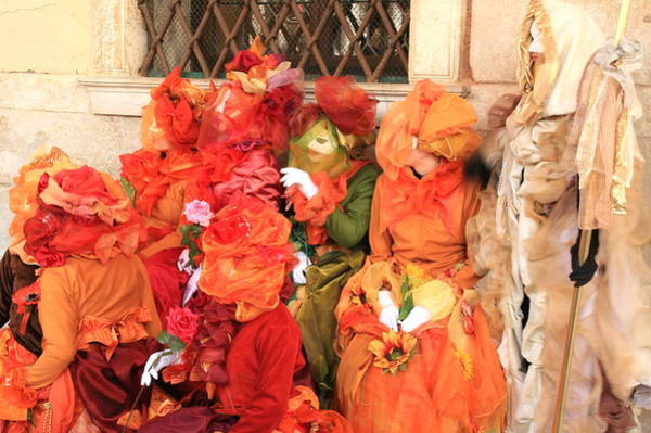 Wall Art - Photograph - Women At Carnivale In Venice by Michael Henderson