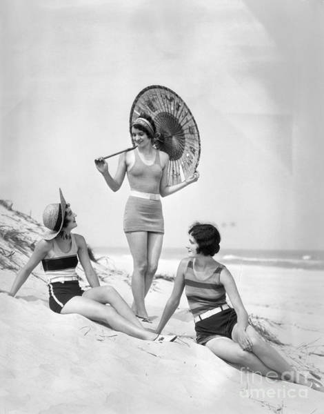 Photograph - Women At The Beach, C.1920s by H Armstrong Roberts and ClassicStock