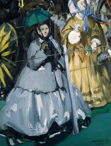 Painting - Women At The Races by Edouard Manet