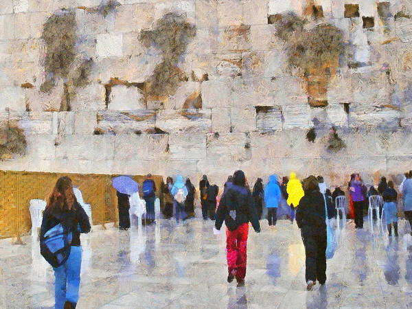 Digital Art - Women At The Wall by Digital Photographic Arts