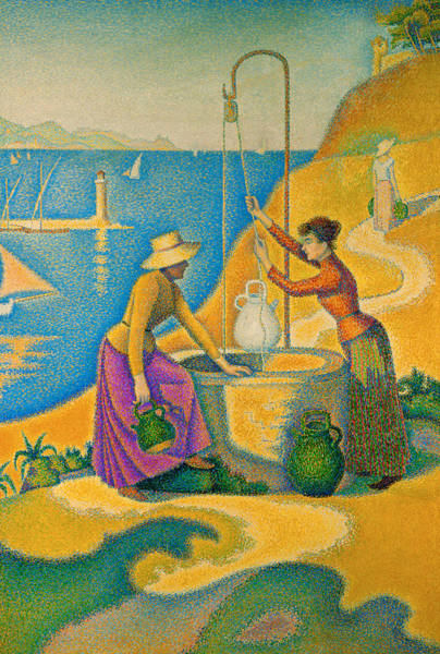 Signac Painting - Women At The Well by Paul Signac