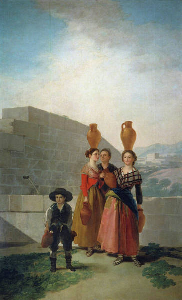 Perfect Body Painting - Women Carrying Pitchers by Francisco de Goya