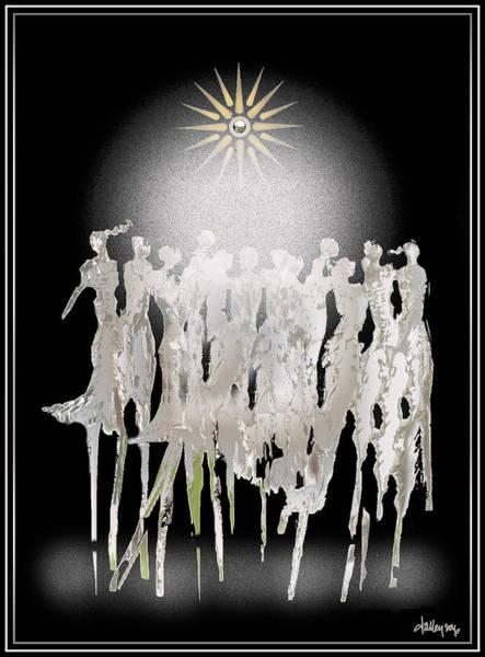 Digital Art - Women Chanting - Spirit Dance by Larry Talley