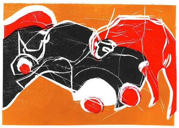 Relief - Women Headbutting A Car by Artist Dot