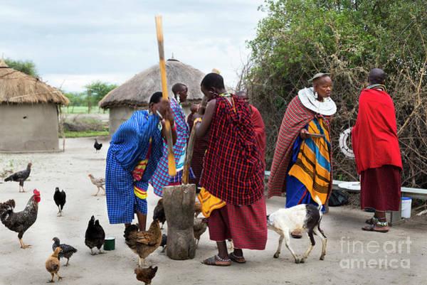 Photograph - Women In A Maasai Village In Tanzania by RicardMN Photography