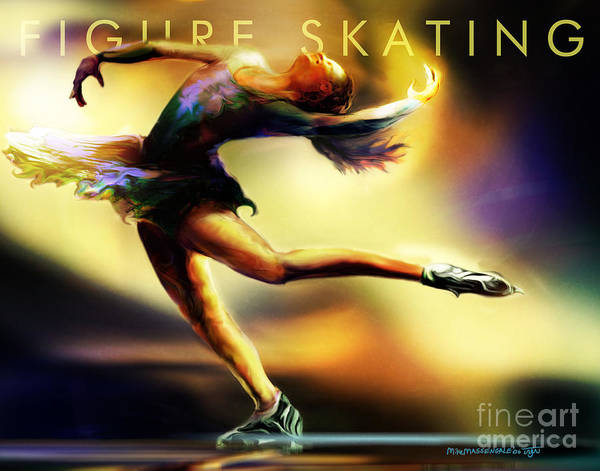 Figure Skating Painting - Women In Sports - Figure Skating by Mike Massengale