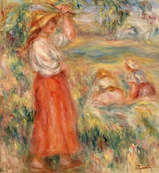 Rural Life Wall Art - Painting - Women In The Fields by Pierre-Auguste Renoir