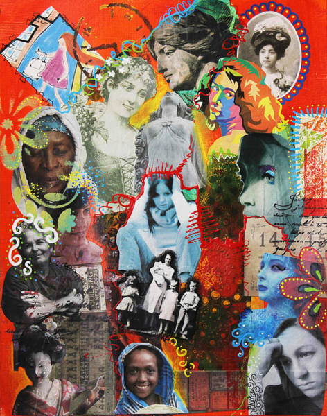 Art Paper Mixed Media - Women In Time by Patricia Lintner