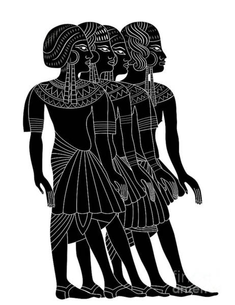 Ancient Egypt Drawing - Women Of Ancient Egypt by Michal Boubin