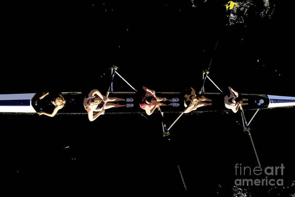 Rowing Wall Art - Painting - Women Rowing by David Lee Thompson