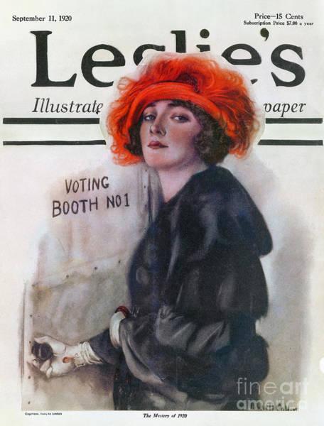 Photograph - Women Voting, 1920 by Granger