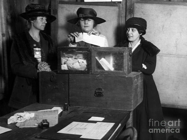 Photograph - Women Voting, C1917 by Granger
