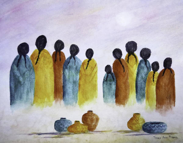 Painting - Women Waiting by Terry Ann Morris