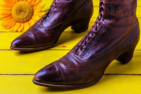 Wall Art - Photograph - Womens Antique Boots by Garry Gay