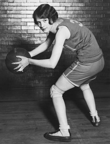 Photograph - Women's Basketball Champions by Underwood Archives