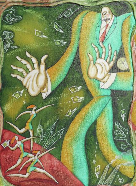 Painting - Women Against Man by Leon Zernitsky