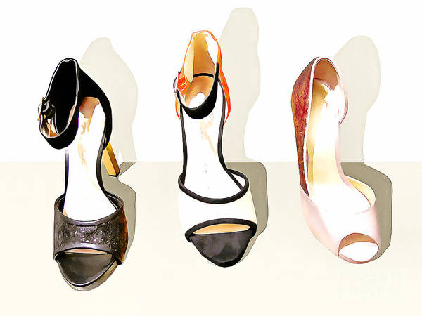 Photograph - Womens High Heel Stiletto Shoes 20160227 by Wingsdomain Art and Photography