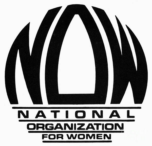 Photograph - Womens Rights: Now Logo by Granger