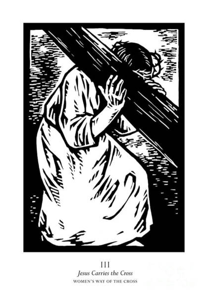 Painting - Women's Stations Of The Cross 03 - Jesus Carries The Cross - Jljca by Julie Lonneman